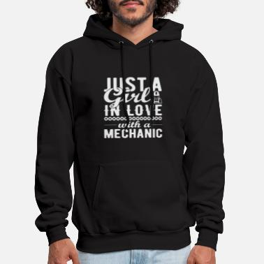 Just a girl in love with a mechanic - Men's Hoodie