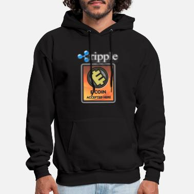 Ripple ECoin Accepted Here - Men's Hoodie