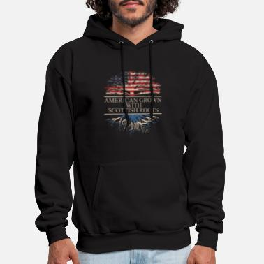 Scottish American grown with scottish roots - Men's Hoodie