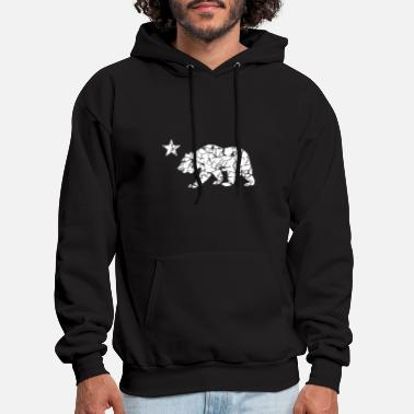 Cali Vintage Cali Bear California Republic Retro CA - Men's Hoodie