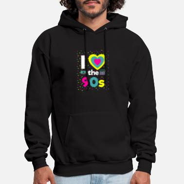 I Love The 90s 90 Party Motto Party Fun Boombox Gi - Men's Hoodie