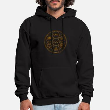 Seed Seed of life with symbols 2 - Men's Hoodie