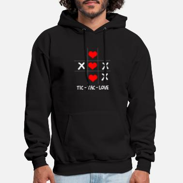 Tic Tac Love Love Valentins day Heart Romantic - Men's Hoodie