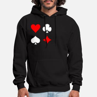 Pik Poker Cross Pik Heart Check - Men's Hoodie