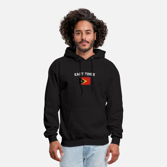 East Germany Hoodies & Sweatshirts - East Timorese Flag Shirt - Vintage East Timor T-Sh - Men's Hoodie black