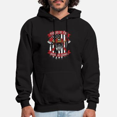 Courage Fueled By Fire Driven By Courage Firefighter Gifts - Men's Hoodie