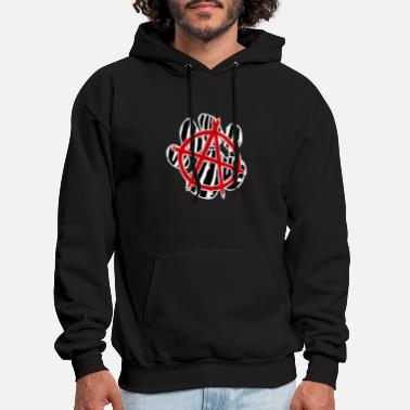 Wolf Paw Punk animal - Men's Hoodie