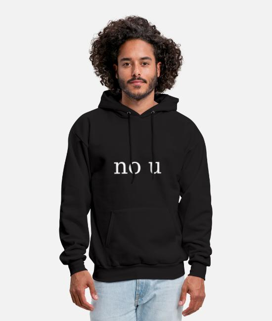 Design Hoodies & Sweatshirts - no u meme - Men's Hoodie black