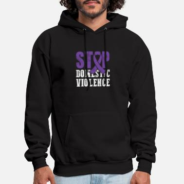 Domestic Abuse - Stop Domestic Violence - Fighting Anger - Men's Hoodie