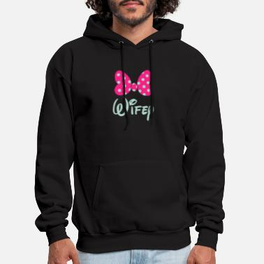 Matching Couples Hubby Wifey Matching Couples - Men's Hoodie