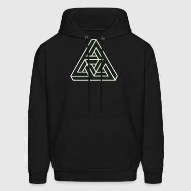Triangle geometry endless knot infinity mathematic - Men's Hoodie