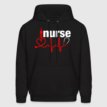 Nurse Heartbeat Shirt - Men's Hoodie