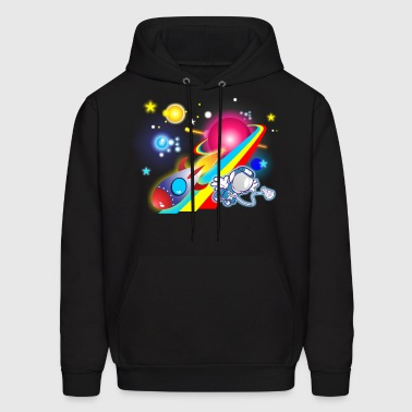 Outer Space Cartoon - Men's Hoodie