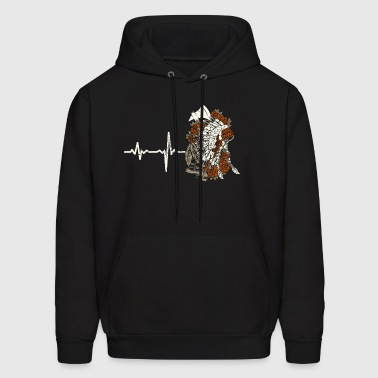 gift heartbeat native american - Men's Hoodie