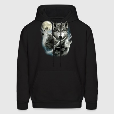 Three Wolf Moon 3 Wolves - Men's Hoodie