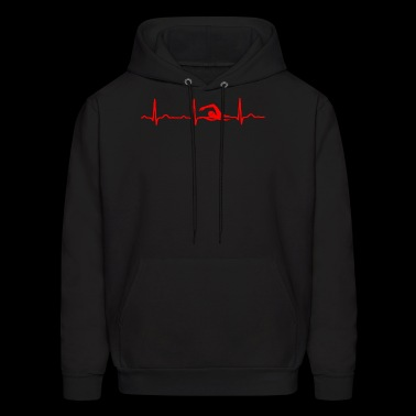 GIFT - ECG SWIMMING RED - Men's Hoodie