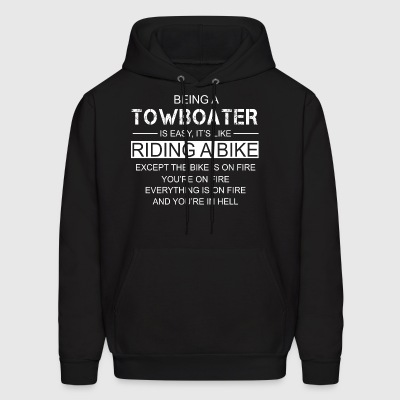 Being A TowBoater Is Easy Like Riding A Bike - Men's Hoodie