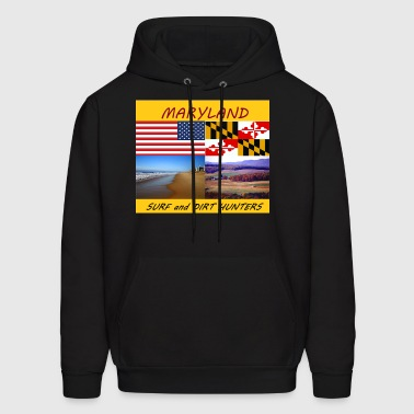 MARYLAND SURF AND DIRT HUNTERS group LOGO LARGE - Men's Hoodie