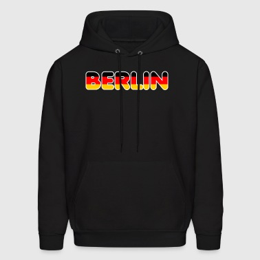 Berlin with german flag - Men's Hoodie