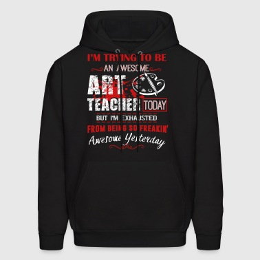 Awesome Art Teacher Shirt - Men's Hoodie
