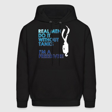 Real Men are Freediver - Men's Hoodie
