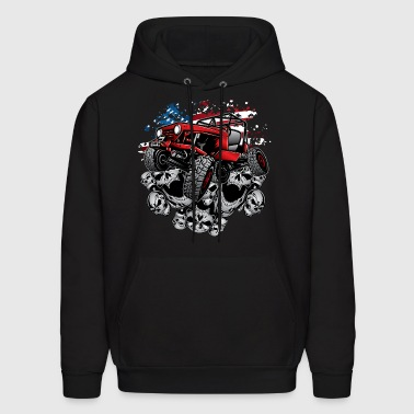 Jeep Wrangler Crawler Red - Men's Hoodie