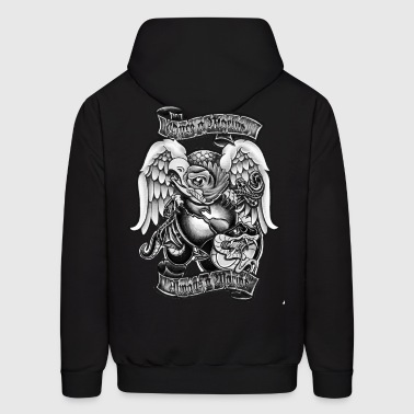 marine t front logo black and white.png Hoodies - Men's Hoodie
