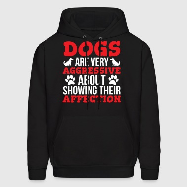 Dogs Affection Cute Dog Lover T-shirt - Men's Hoodie