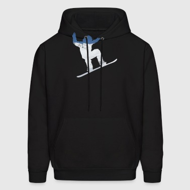 Snowboarder on snow covered mountain avalanche 01 - Men's Hoodie