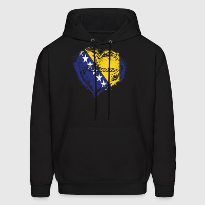 HOME ROOTS COUNTRY GIFT LOVE Bosnia - Men's Hoodie