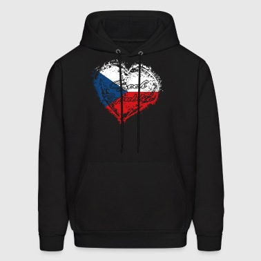 HOME ROOTS COUNTRY GIFT LOVE Czech republic - Men's Hoodie