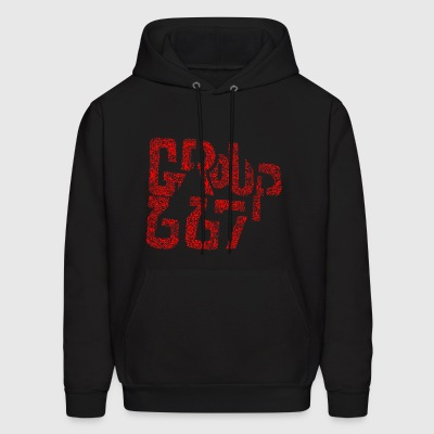 Group667 RED Scribble - Men's Hoodie