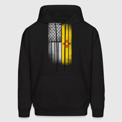 USA Vintage New Mexico State Flag - Men's Hoodie