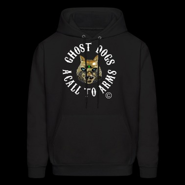 Wolf Face Image English - Men's Hoodie