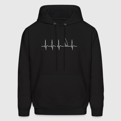 Heartbeat Windsurfing Surfer California gift Cool - Men's Hoodie