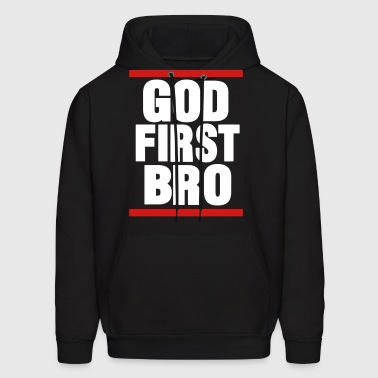 GOD FIRST BRO-By Crazy4tshirts - Men's Hoodie