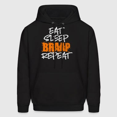 Eat, sleep, brap - Shirt as a gift for motocross - Men's Hoodie