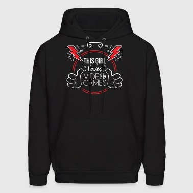 This Girl Loves Video Games Girl Gamer Shirt - Men's Hoodie