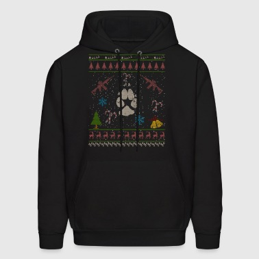 Coyote Hunting Christmas Ugly Sweater Shirt - Men's Hoodie