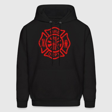 Firefighter Stringer Bodybuilding Muscle USA - Men's Hoodie