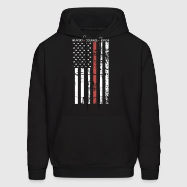 THIN RED LINE FLAG FIREFIGHTER FIRE DEPARTMENT - Men's Hoodie
