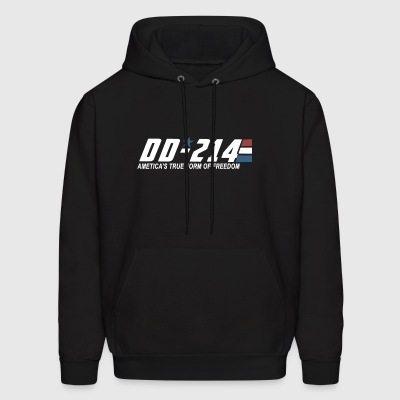 DD 214 ametica's true form of freedom veteran - Men's Hoodie