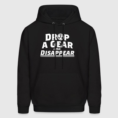 Drop A Gear and Disapear Racing Car Hot Rod Muscle - Men's Hoodie