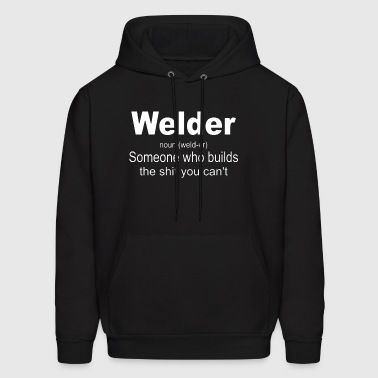 Welder Definition Shirt funny welder welding - Men's Hoodie