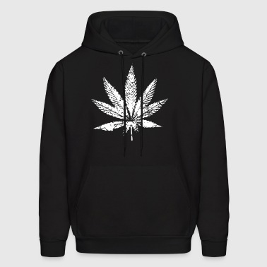 Faded Distressed Pot Leaf Stoner Legalize Marijuan - Men's Hoodie