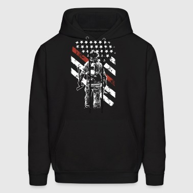 Firefighter Exclusive Thin Red Line Hanes Tagless - Men's Hoodie
