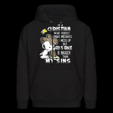 I'm a christian i'm not perfect i make mistakes i - Men's Hoodie