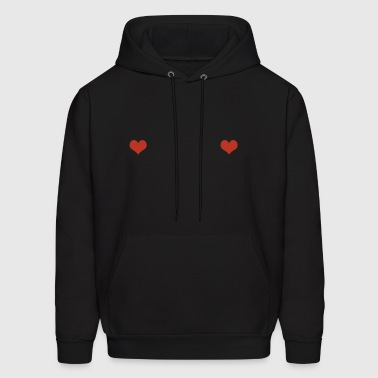 Free The Nipples Hearts Boobs Nips Hipster - Men's Hoodie