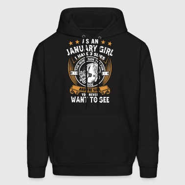 AS AN JANUARY GIRL - Men's Hoodie