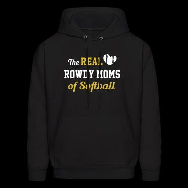 The real rowdy moms of softball - Men's Hoodie
